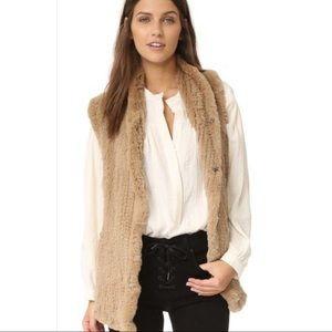 Camel Color Fur Vest